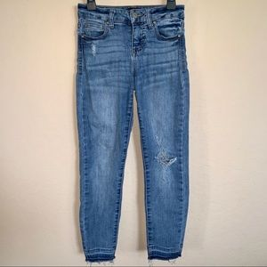 Celebrity Pink Girls distressed jeans size 8